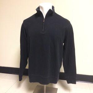 Van Heusen Dark Gray Quarter Zip Casual Sweater